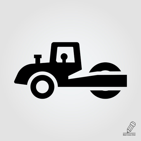 even: Road roller icon
