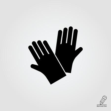 guantes: Icono de guantes de goma de protección Vectores