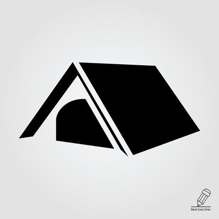 tourist: Tourist tent icon