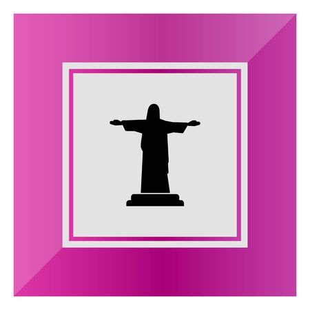 redeemer: Icon of Christ the Redeemer statue Illustration