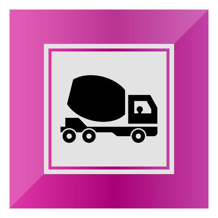 concrete mixer truck: Icon of concrete mixer truck