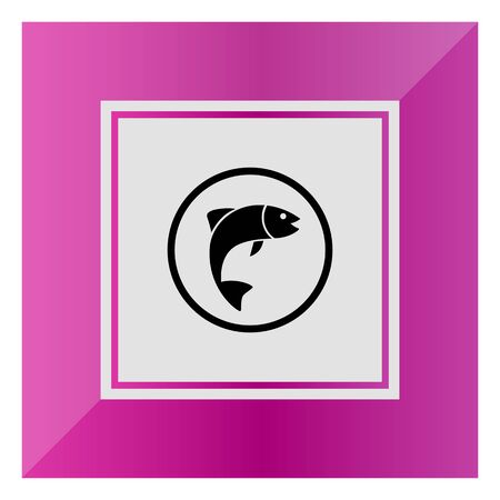 gills: Icon of fish silhouette in circle