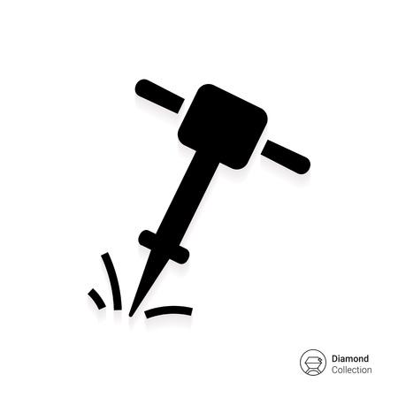 Pre�lufthammer: Symbol der Arbeitspresslufthammer