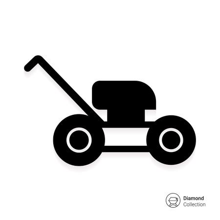 garden maintenance: Lawn mower icon Illustration