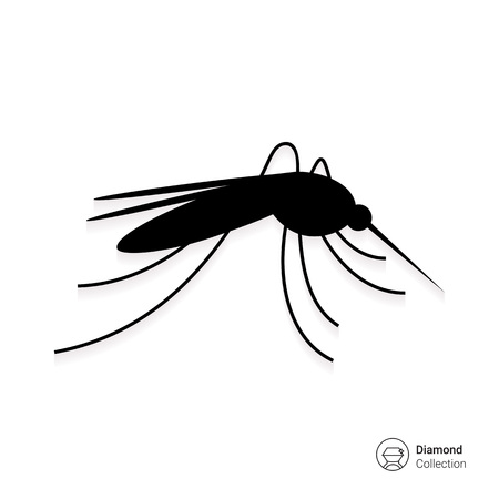 infectious disease: Mosquito icon Illustration