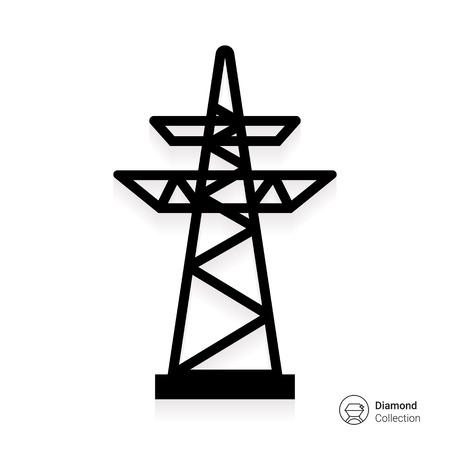 Icon of voltage pole