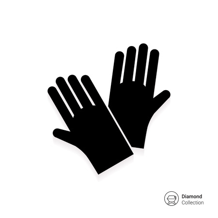 Icon of protective rubber gloves