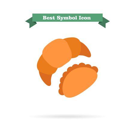 nourishing: Icon of croissant and bun Illustration