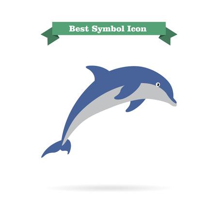 dolphin: Dolphin icône Illustration