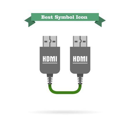 hdmi: Icon of HDMI to HDMI cable
