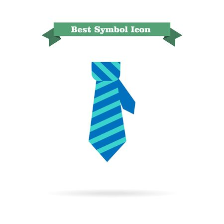 necktie: Icon of necktie in square Illustration