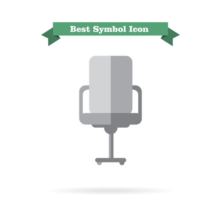 front office: Icon of office chair, front view Illustration