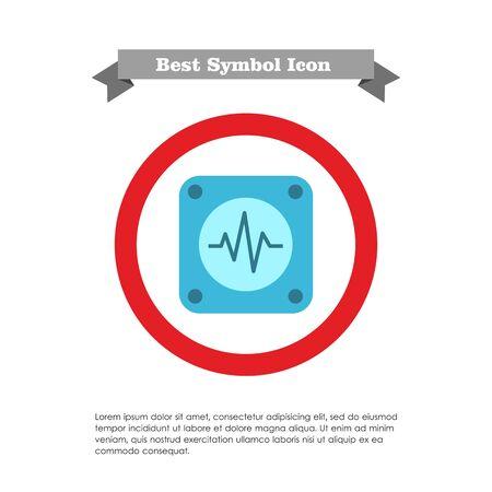 electrocardiograma: Icono del electrocardiograma Vectores
