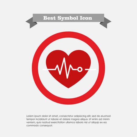electrocardiograma: Icono del coraz�n y electrocardiograma Vectores