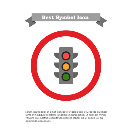 rules of road: Traffic light icon