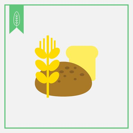loaves: Icon of bread loaves and wheat ear Illustration