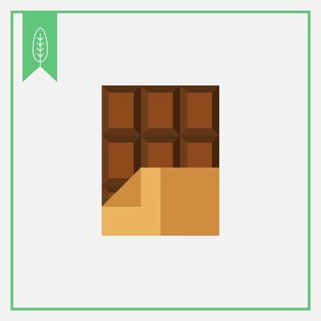 barra de chocolate: Icono de la barra de chocolate en una envoltura de papel de aluminio