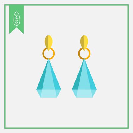 edelstenen: Icoon van oorbellen met edelstenen
