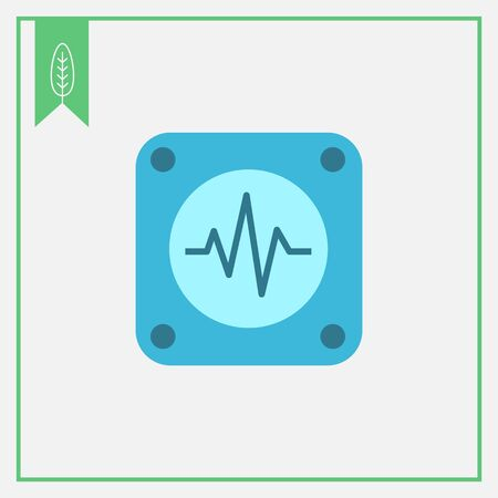 of electrocardiogram: Icon of electrocardiogram