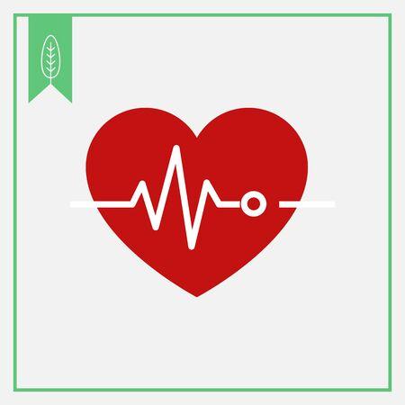 elettrocardiogramma: Icona del cuore ed elettrocardiogramma