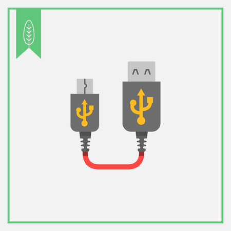 interconnect: Icon of USB to mini USB extender