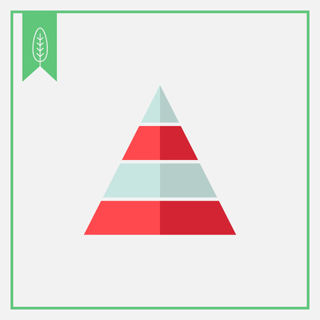 stage chart: Icon of pyramid with colored levels Illustration