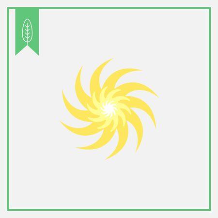 swirl: Icon of sun with swirl beams