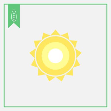 glaring: Icon of sun with beams Illustration