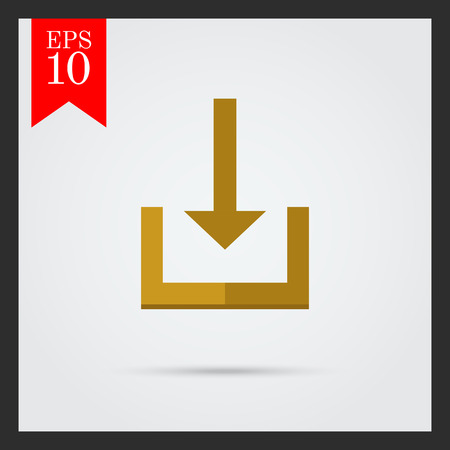 downloading content: Download icon