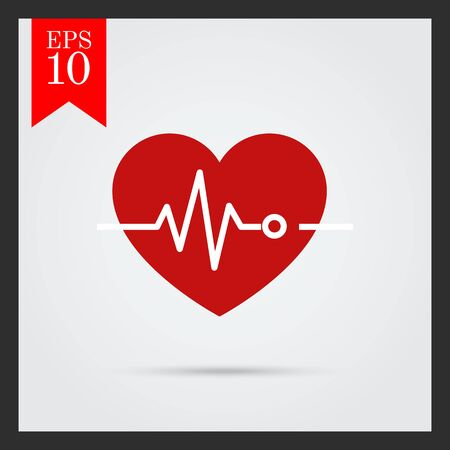 electrocardiogram: Icon of heart and electrocardiogram