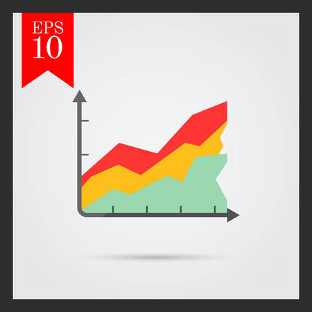 histogramme: Icon of color histogram