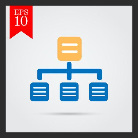 organizational: Organizational chart icon