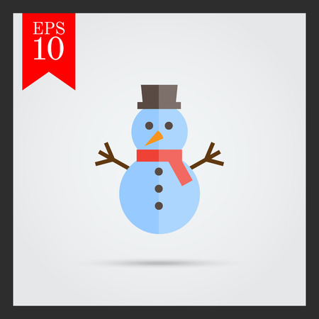 snowman isolated: Snowman icon