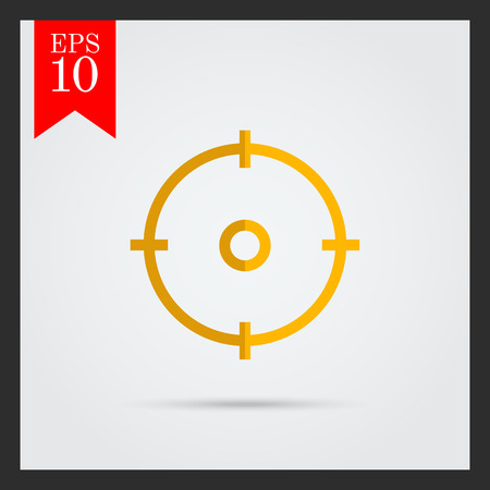 focus on shadow: Icon of sight in circle