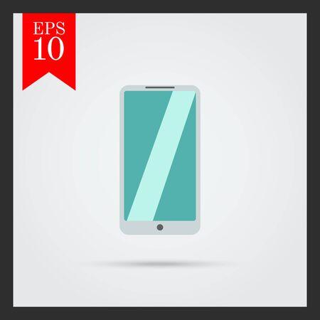 silver: Icon of silver smartphone