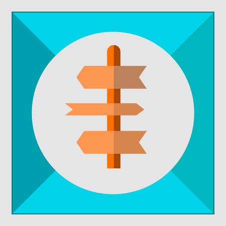 sign in: Icon der Wegweiser in Kreis