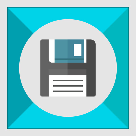 floppy: Floppy disc icon Illustration