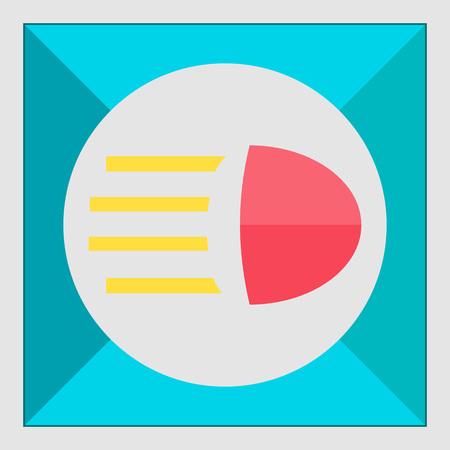 beam: Icon of high beam sign