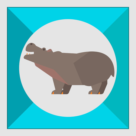 hippopotamus: Icono de Hippopotamus Vectores