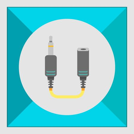 interconnect: Icon of jack extender Illustration
