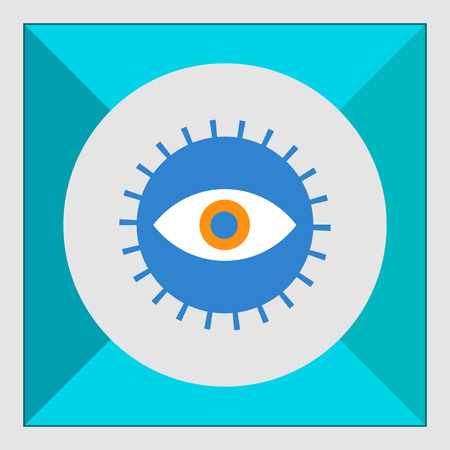 revision: Icon of open human eye in circle