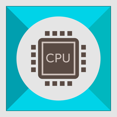 semiconductors: Icon of central processing unit