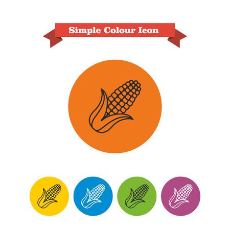 cob: Vector icon of corn cob