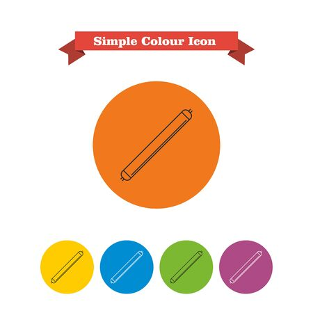 luminous: Line icon of luminous tube lamp
