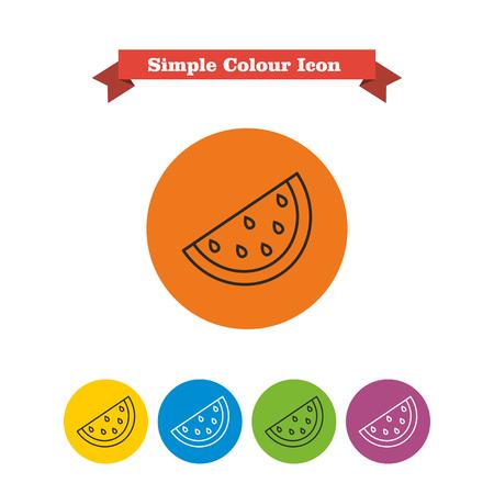 slice: Icon of watermelon slice Illustration