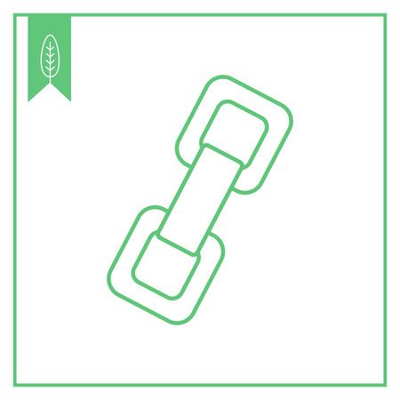 chain links: Chain links icon Illustration