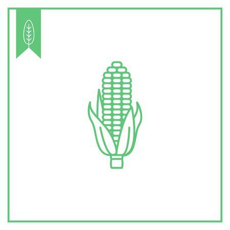 corn on the cob: Corn cob icon