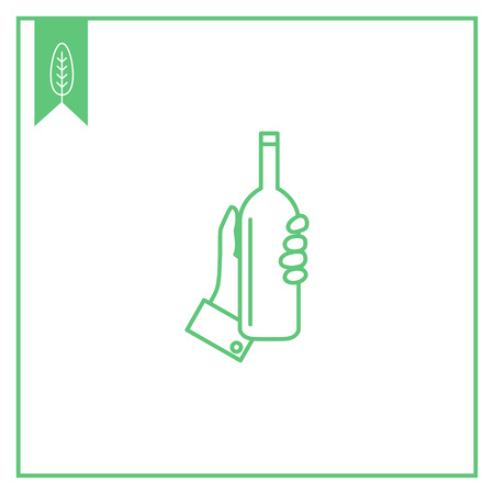 man holding transparent: Icon of human hand holding bottle