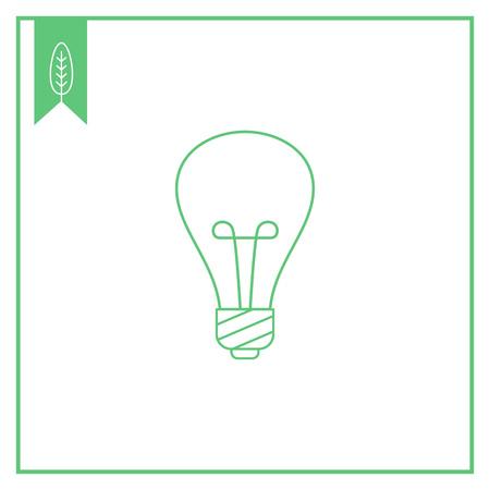 filament: Lightbulb line icon