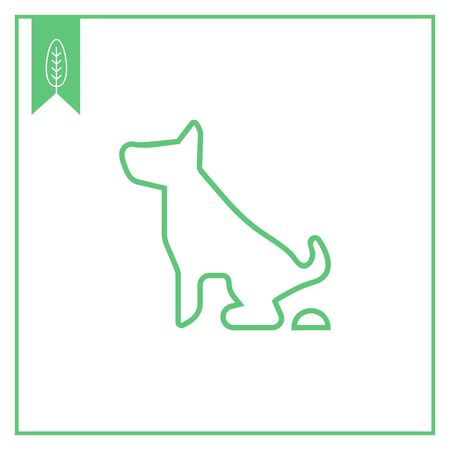 pooping: Icon of pooping dog sign